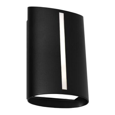 Temma IP44 Metal Exterior LED Wall Light, Black