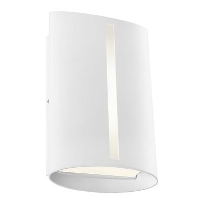 Temma IP44 Metal Exterior LED Wall Light, White