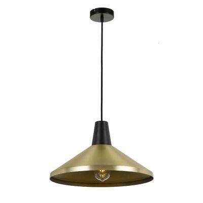 Temo Metal Pendant Light, Medium, Brass / Black