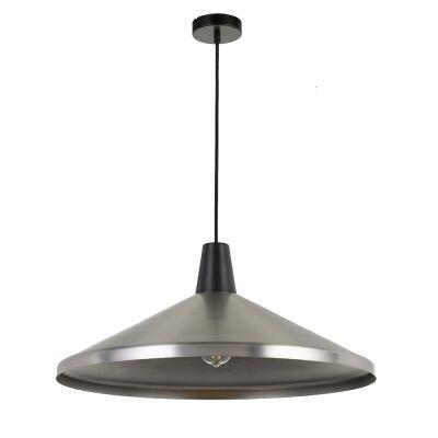 Temo Metal Pendant Light, Large, Nickel / Black