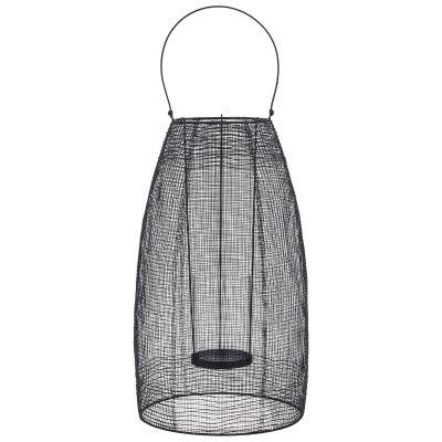 Hyde Handmade Metal Mesh Lantern, Large, Black