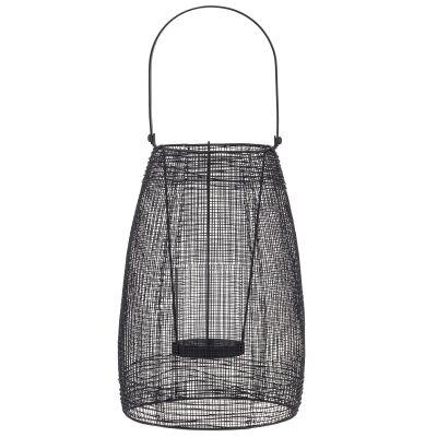 Hyde Handmade Metal Mesh Lantern, Small, Black