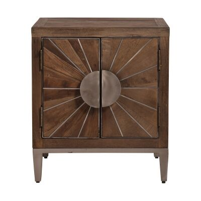 Erith Recycled Elm Timber 2 Door Side Table