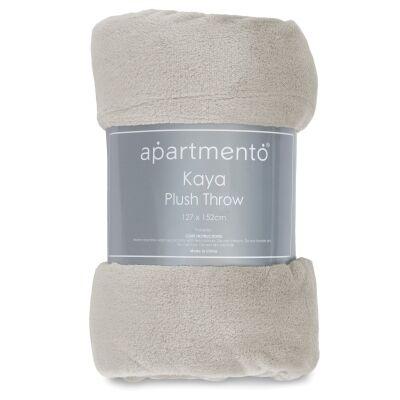 Apartmento Kaya Flannel Plush Throw, 127x152cm, Silver