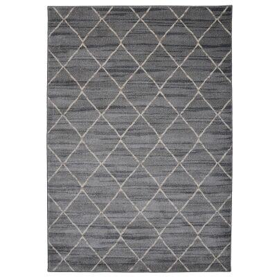 Tibet Lattice Modern Rug, 380x280cm, Grey