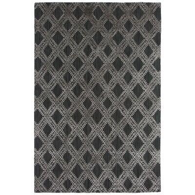 Timeless Elegance Hand Loomed Wool & Viscose Rug, 160x230cm, Charcoal / Grey