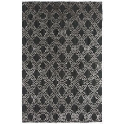 Timeless Elegance Hand Loomed Wool & Viscose Rug, 300x400cm, Charcoal / Grey