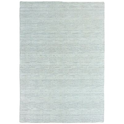 Timeless Stokes Hand Loomed Wool & Viscose Rug, 160x230cm, Natural / Grey