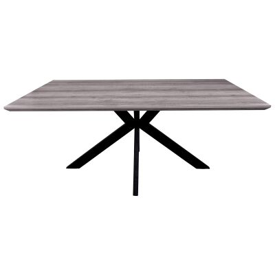 Trew Scratch Resistant Dining Table, 180cm, Grey Oak