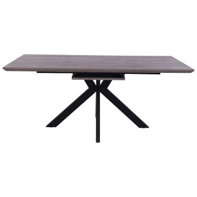 Trew Extendable Dining Table,180-220cm, Grey Oak