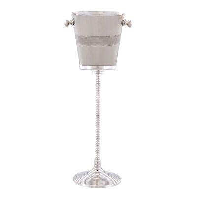 Baldwin Aluminium Bucket Wine Cooler on Stand