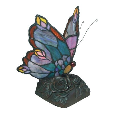 Tiffany Style Stained Glass Butterfly Table Lamp, Type A