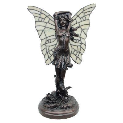 Fairy Figurine Decor Lamp, Standing, Dark Bronze