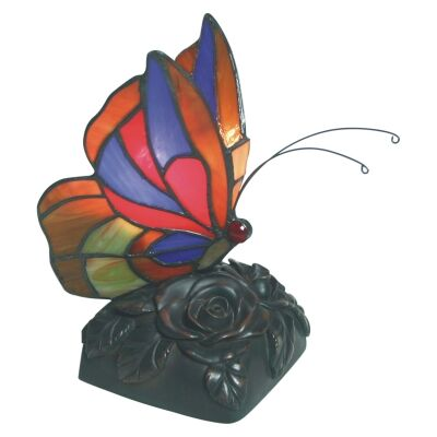 Tiffany Style Stained Glass Butterfly Table Lamp, Type C