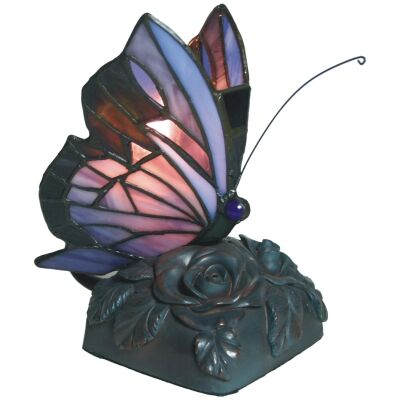 Tiffany Style Stained Glass Butterfly Table Lamp, Type D