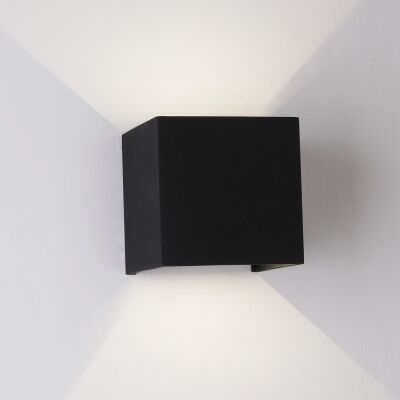 Toca IP54 Exteriror Up/Down LED Wall Light, Black