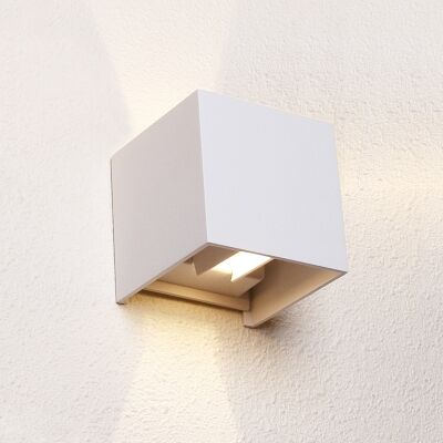Toca IP54 Exteriror Up/Down LED Wall Light, White