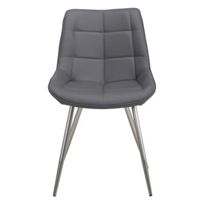 Reed Faux Leather Dining Chair, Grey