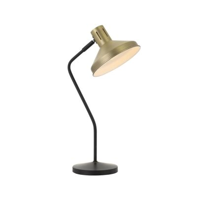 Trevi Metal Table Lamp, Antique Brass / Black