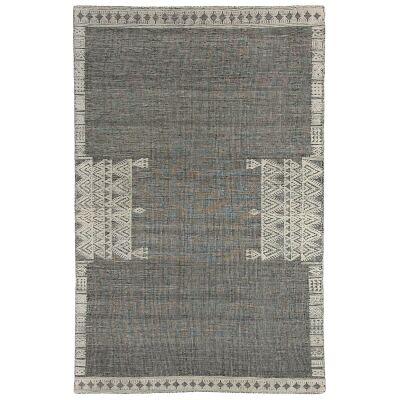 Nomadic Crown Hand Woven Wool Rug, 200x300cm, Black