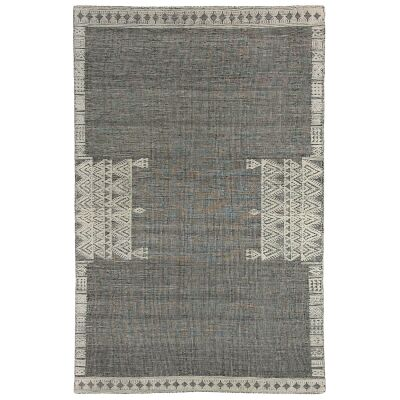 Nomadic Crown Hand Woven Wool Rug, 250x300cm, Black