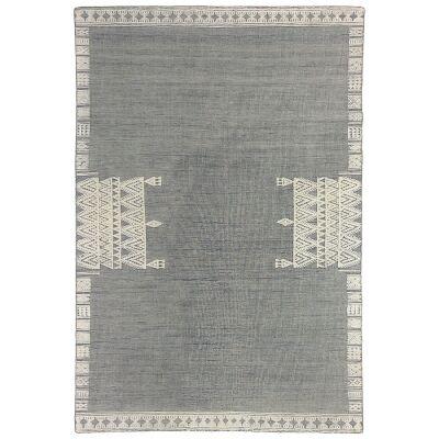 Nomadic Crown Hand Woven Wool Rug, 250x350cm, Grey