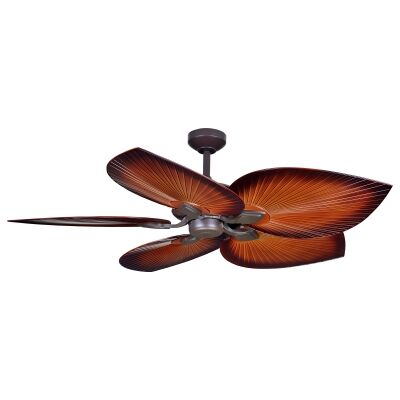 """Threesixty Tropicana Commercial Grade Ceiling Fan, 138cm/54"""", Oil Rubbed Bronze / Brown"""