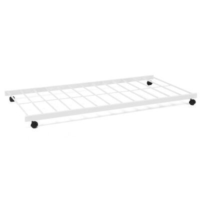 Lugano Metal Trundle Bed, Single, White