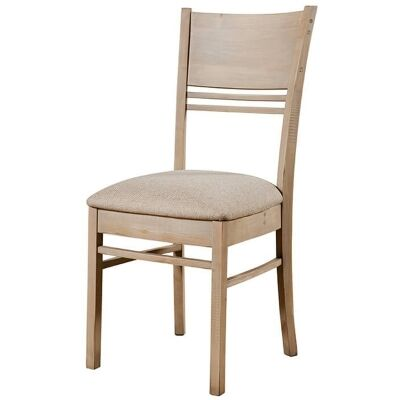 Toscana Reclaimed Timber Dining Chair, Fabric Seat