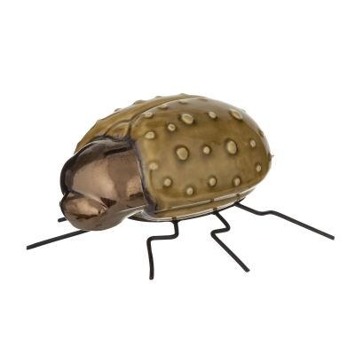 Insecto Ceramic Beetle Sculpture, Ground Beetle