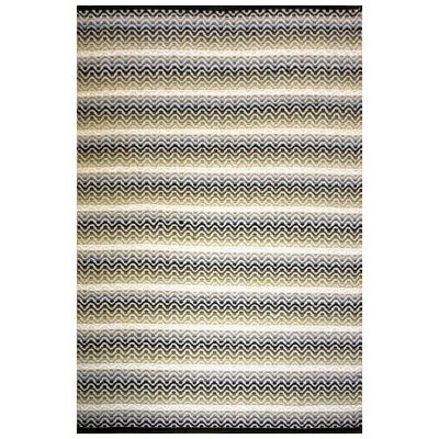 Tiskoni Reversible Flatwoven Cotton Rug, 290x190cm, Winter