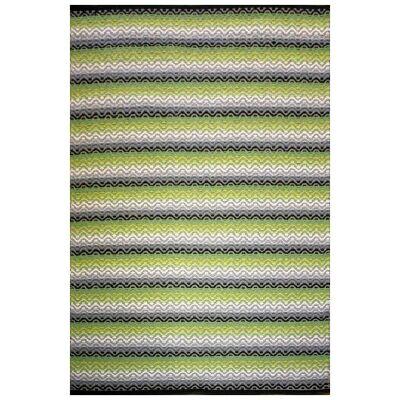 Tiskoni Reversible Flatwoven Cotton Rug, 290x190cm, Spring