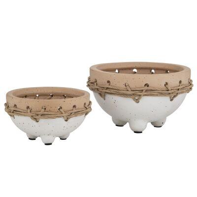 Mani 2 Piece Ceramic Bowl Planter Set
