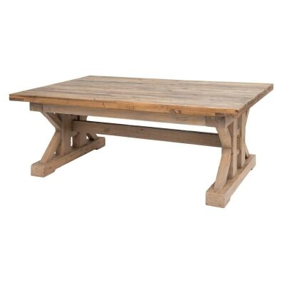 Tuscanspring Reclaimed Timber Trestle Coffee Table, 127cm