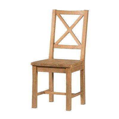 Tuscanspring Reclaimed Timber Dining Chair, Timber Seat