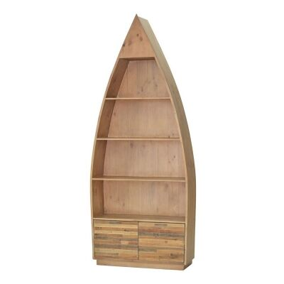 Tuscanspring Reclaimed Timber Boat Bookcase