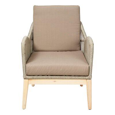Bentley Indoor / Outdoor Lounge Armchair, Taupe