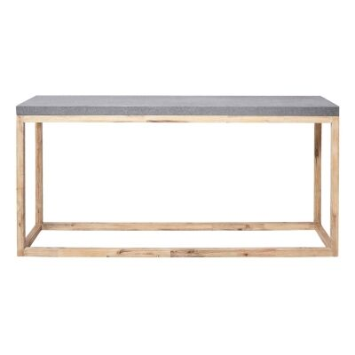 Bentley Cement Top Timber Indoor / Outdoor Console Table, 160cm, Grey / Natural