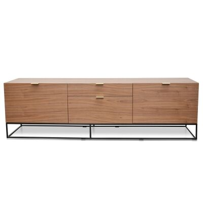 Galleno Wooden 2 Door 2 Drawer TV Unit, Walnut
