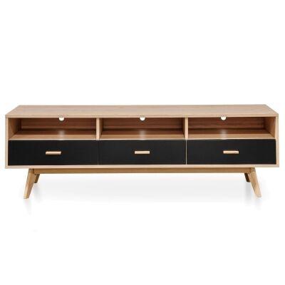 Kabo Wooden 3 Drawer TV Unit, 180cm