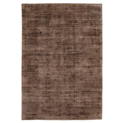 Luxe Hand Loomed Distressed Modern Rug in Brown  - 225x155cm