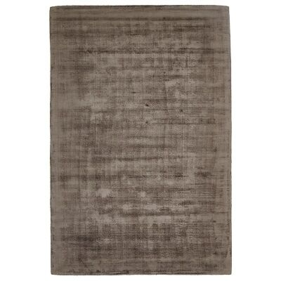 Luxe Hand Loomed Distressed Modern Rug in Chocolate  - 280x190cm