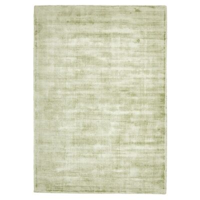 Luxe Hand Loomed Distressed Modern Rug in Green  - 225x155cm