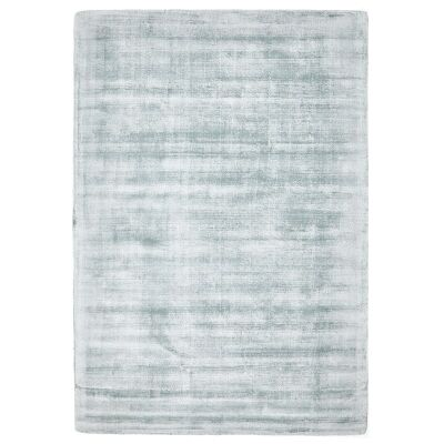 Luxe Hand Loomed Distressed Modern Rug in Sky Blue  - 280x190cm