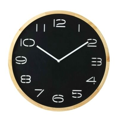 Leni Round Wall Clock, 41.5cm, Black