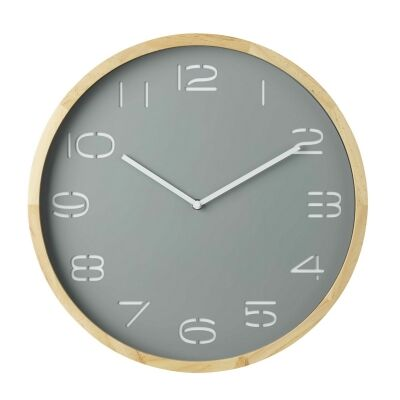 Leni Round Wall Clock, 41.5cm, Grey