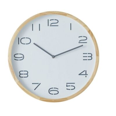 Leni Round Wall Clock, 41.5cm, White