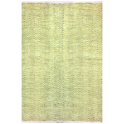 Tye Reversible Flatwoven Cotton Rug, 130x70cm, Green