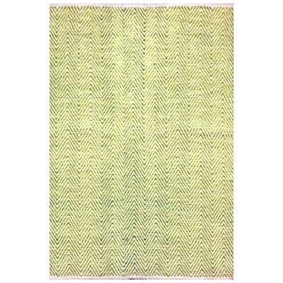 Tye Reversible Flatwoven Cotton Rug, 290x190cm, Green