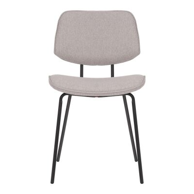 Tommy Commercial Grade Stain Resistant Waterproof Fabric & Steel Dining Chair, Light Grey